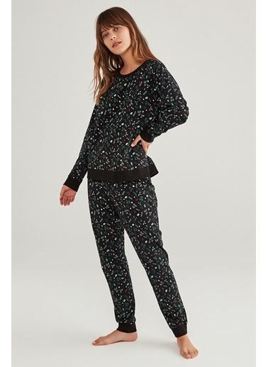 Penti Dark Season Pijama Takımı Siyah